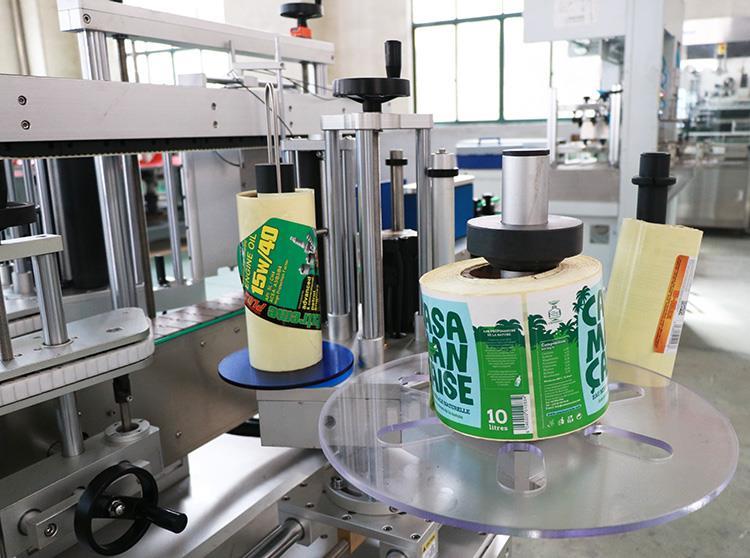 Automaitc lipni dviejų lipdukų plokščių apvalių butelių etikečių klijavimo mašina