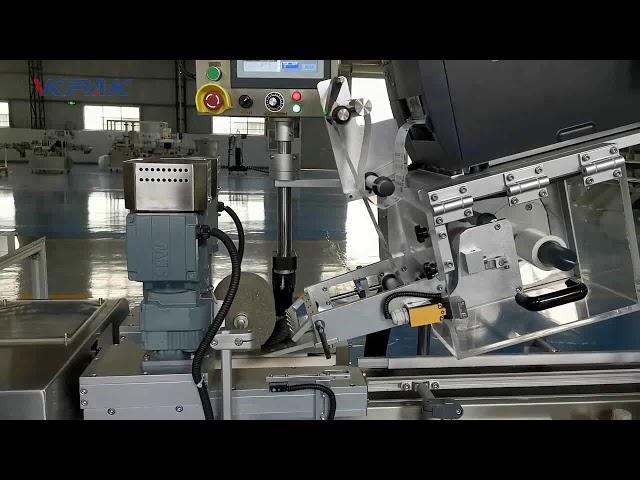 """Automatinė C formos """"Clamshell"""" etikečių klijavimo mašina"""