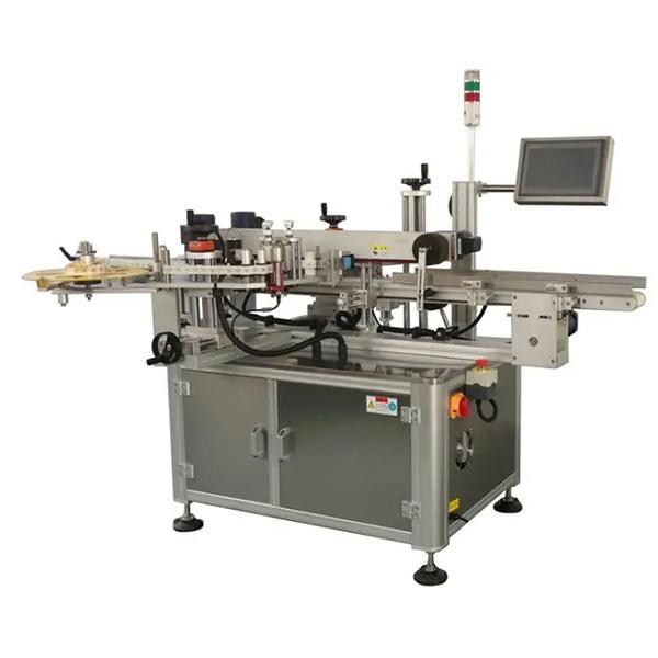 Automatinė dėžutės kampo etikečių klijavimo mašina - viena ar dvi šoninės dėžutės etikečių klijavimo mašinos