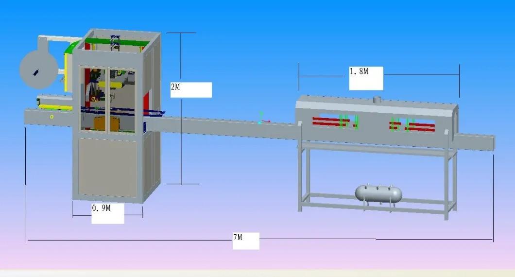 Automatinė mineralinio vandens butelio susitraukimo rankovių ženklinimo mašina