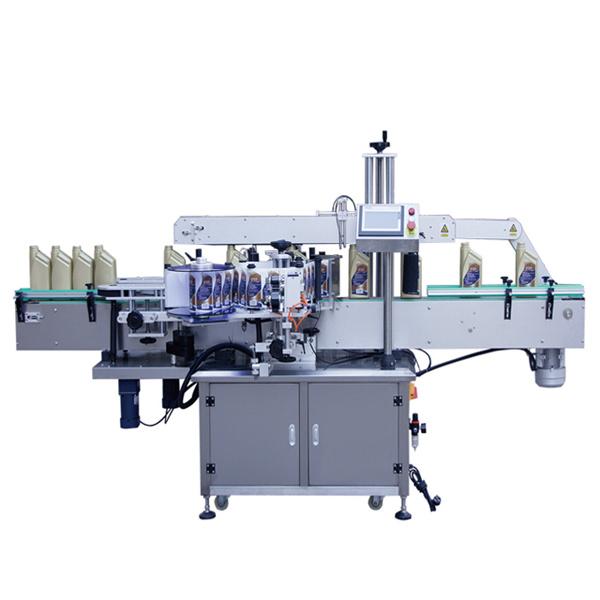 Automatinė dviejų pusių priekinių ir galinių lipdukų etikečių klijavimo mašina
