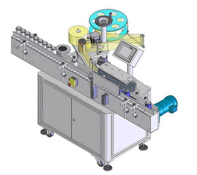 Automatinė vertikalių apvalių butelių etikečių klijavimo mašina