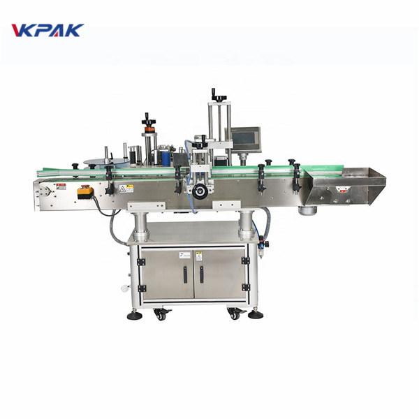 Automatinė vertikalių kvadratinių butelių keturių pusių etikečių klijavimo mašina