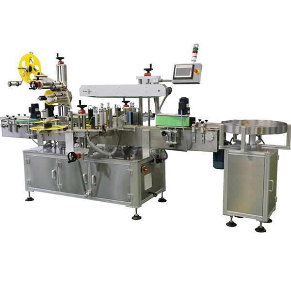 Butelių viršaus ir kūno daugiašalių etikečių klijavimo mašina