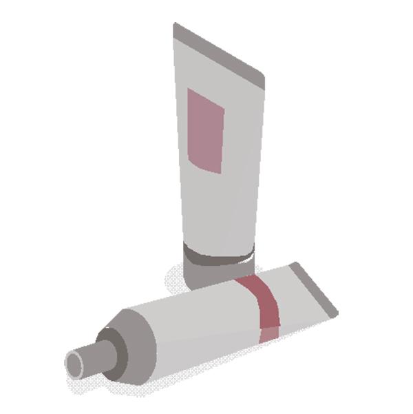 Kosmetikos vamzdelių pakuočių etiketės