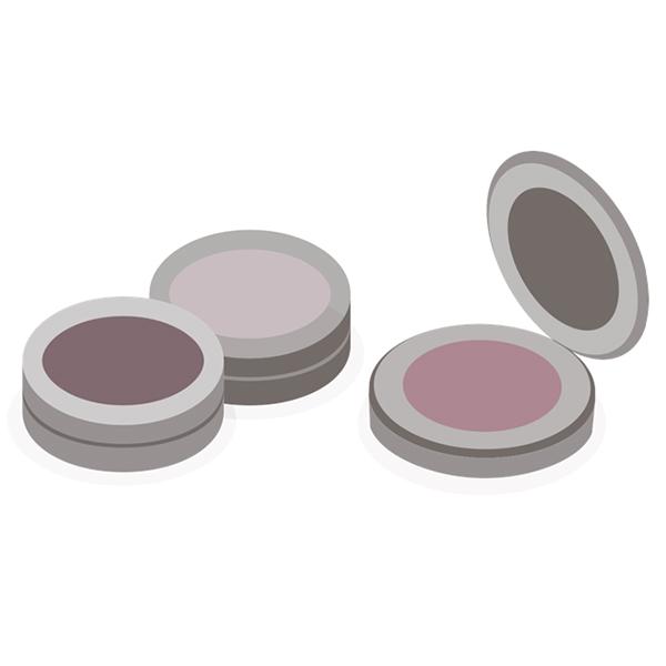 Kompaktiškos kosmetikos etiketės