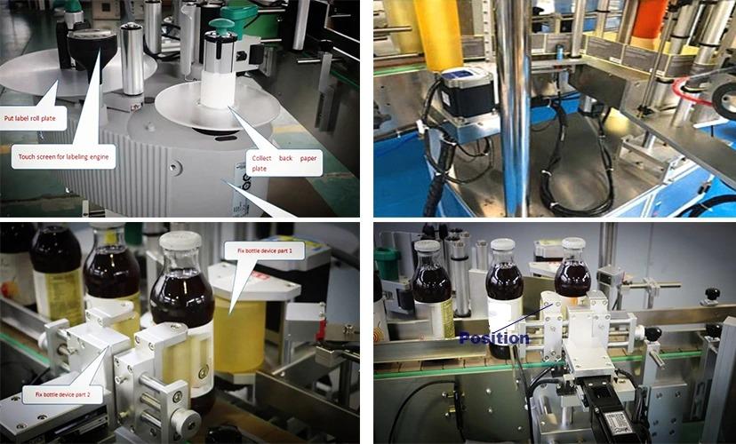 Parduodama gamyklinių kainų automatinė fiksuoto padėties butelių etikečių klijavimo mašina