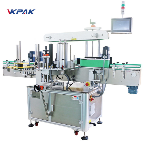 Priekinės ir galinės pusės bei apvyniokite etikečių klijavimo mašiną
