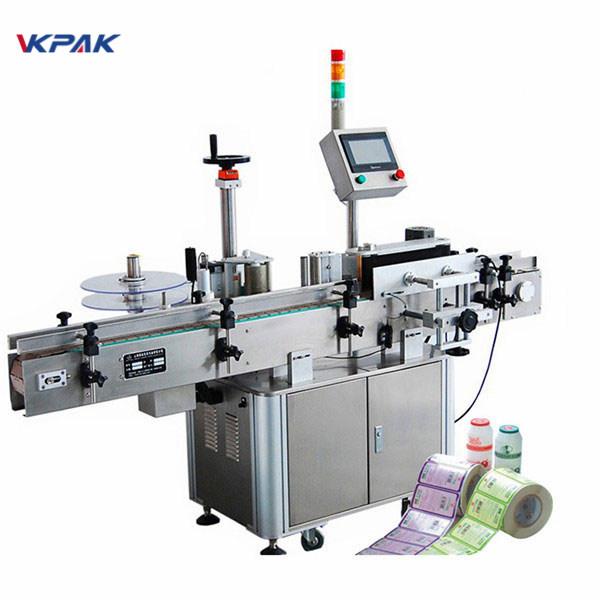 Visiškai automatinė vertikali apvalių butelių etikečių klijavimo mašina