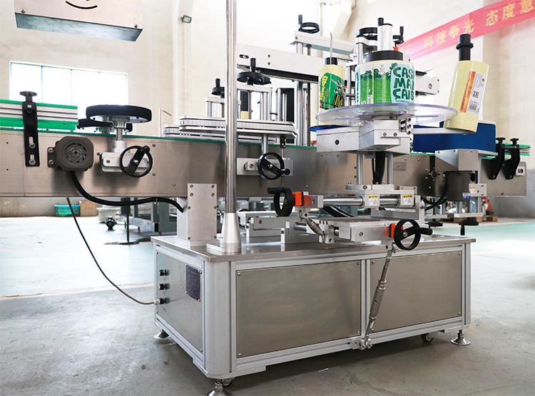 Pilnai automatinė dvipusių lipnių lipdukų etikečių klijavimo mašina