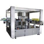 Pilnai automatinė didelės spartos rotacinių PET plastikinių butelių etikečių klijavimo mašina