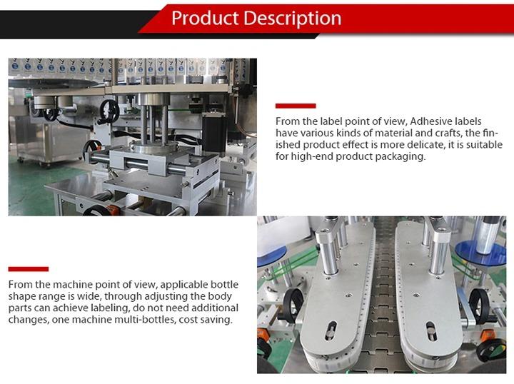 Pilnai automatinė lipdukų etikečių klijavimo mašina lipniajam stiklo buteliui