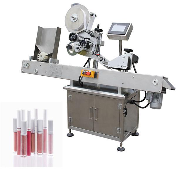 Horizontalios automatinės farmacijos mažų butelių etikečių klijavimo mašinos
