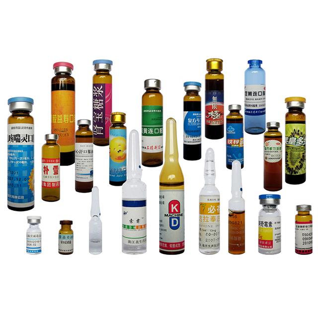 Linijinių horizontalių servo variklių ampulių butelių buteliukų etikečių klijavimo mašina