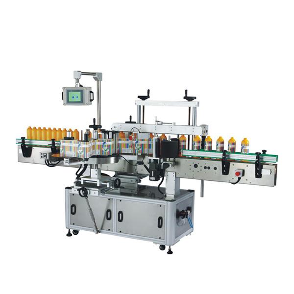 Apvalaus butelio kvadratinių butelių lipnių lipdukų etiketavimo mašina 100 BPM