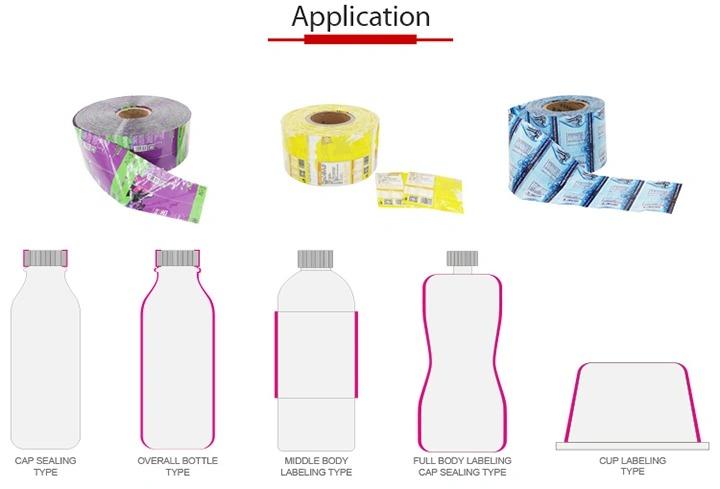 Dviejų galvų automatinė plastikinio stiklo butelio susitraukimo ženklinimo mašina