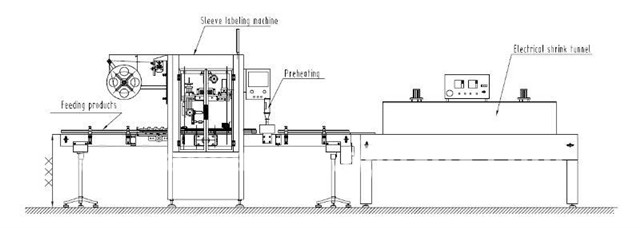 rankovių ženklinimo mašina su susitraukiančiu tuneliu